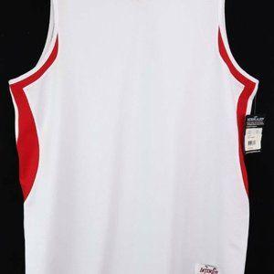 Intensity Mens Jersey Top White Red Sleeveless